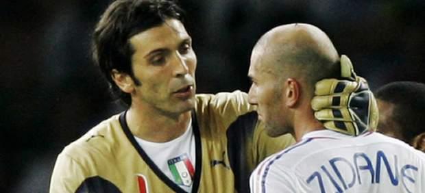 Zidane y Buffon
