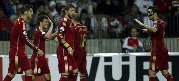 Gol de Silva con España