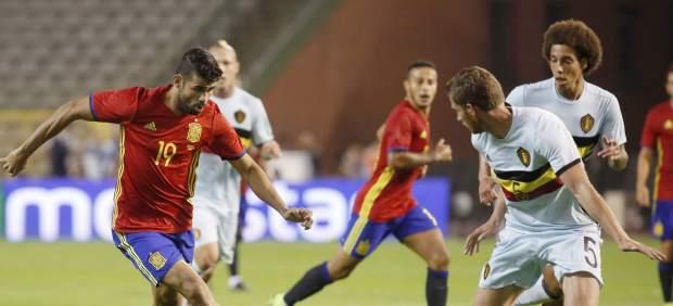 Diego Costa, durante su partido ante Bélgica