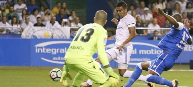 Casemiro, Deportivo de la Coruña, Real Madrid, gol, LaLiga, Liga, Liga Santander