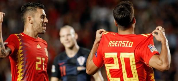 Gol de Asensio con España